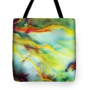 Rays Of The Sun Watercolor Abstraction Painting Tote Bag