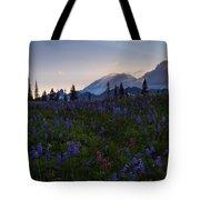 Rays Over Rainier Tote Bag
