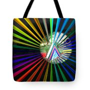 Rays To Triangle Tote Bag