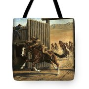 Re-closing Frontiersmen Coming Into The Fort Tote Bag