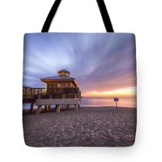 Reaching Into Sunrise Tote Bag