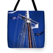 Reaching Out To The Deep Blue Sky Tote Bag