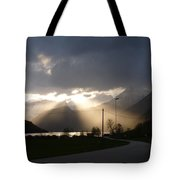 Reaching Through The Coulds Tote Bag