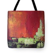 Reaching Up, Abstract  Tote Bag
