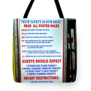 Read All Posted Rules Tote Bag