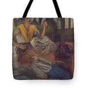 Reading A Letter Tote Bag
