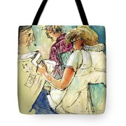 Reading The News 06 Tote Bag