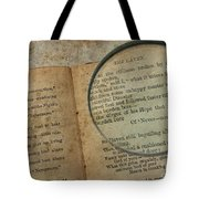Reading The Raven Tote Bag