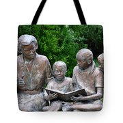 Reading The Story Tote Bag