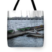 Ready And Waiting On The Charles Tote Bag