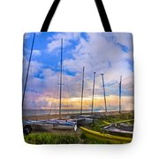 Ready For Sails Tote Bag by Debra and Dave Vanderlaan