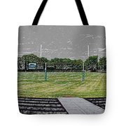Ready For The Football Season Panorama Digital Art Tote Bag