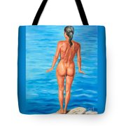 Ready To Take The Leap Tote Bag