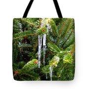 Real Christmas Icicles Tote Bag