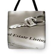 Real Estate Listing And Hosue Keys Tote Bag