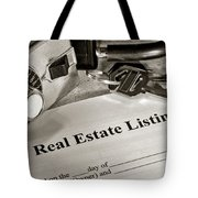 Real Estate Listing And Lock Box Tote Bag