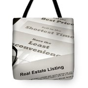 Real Estate Listing Presentation  Tote Bag
