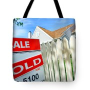 Real Estate Sold Sign Tote Bag