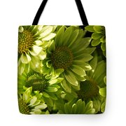Real Green Flowers Tote Bag