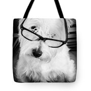 Really Portait Of A Westie Wearing Glasses Tote Bag