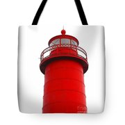Really Red Lighthouse Tote Bag