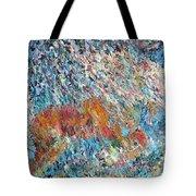 Rearing Stallion - Oil Portrait Tote Bag