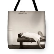 Recent Acquisitions Vintage Documentary Type Photo Woman In Repose Tote Bag
