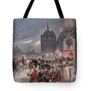 Reception Of Charles V In Amboise Tote Bag