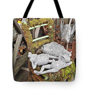 Reclining Amphibians And A Bird Tote Bag