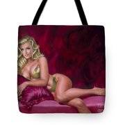 Reclining Beauty Tote Bag