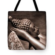 Reclining Buddha Tote Bag by Adrian Evans