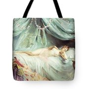 Reclining Nude In An Elegant Interior Tote Bag by Madeleine Lemaire