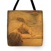 Reclining Woman Tote Bag