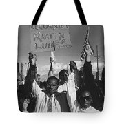 Recognize Martin Luther King Day Rally Tucson Arizona 1991 Black And White Tote Bag