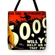 Recruiting Poster - Ww1 - Australian Promise Tote Bag