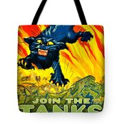 Recruiting Poster - Ww1 - Join The Tank Corps Tote Bag
