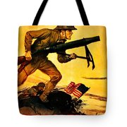 Recruiting Poster - Ww1 - Marines Over The Top Tote Bag