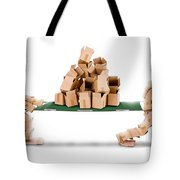 Recycling Boxes By Box Characters And Stretcher Tote Bag
