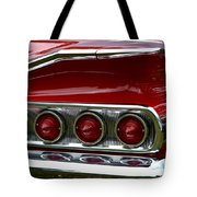 Red 1960 Chevy Tail Light Tote Bag