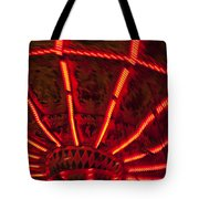 Red Abstract Carnival Lights Tote Bag