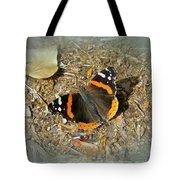 Red Admiral Butterfly - Vanessa Atalanta Tote Bag