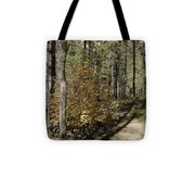 Red Among The Pines Tote Bag