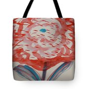 Red And Baby Blue Tote Bag
