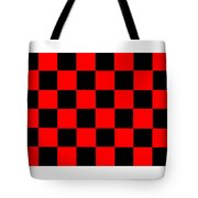 Red And Black Checkered Flag Tote Bag