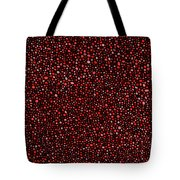 Red And Black Circles Tote Bag