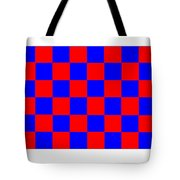Red And Blue Checkered Flag Tote Bag