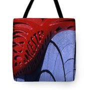 Red And Blue Fantasy Tote Bag