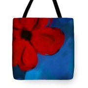 Red And Blue -flower -art Tote Bag