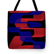 Red And Blue Ribbons Tote Bag