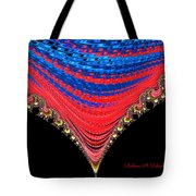 Red And Blue Shawl  Tote Bag